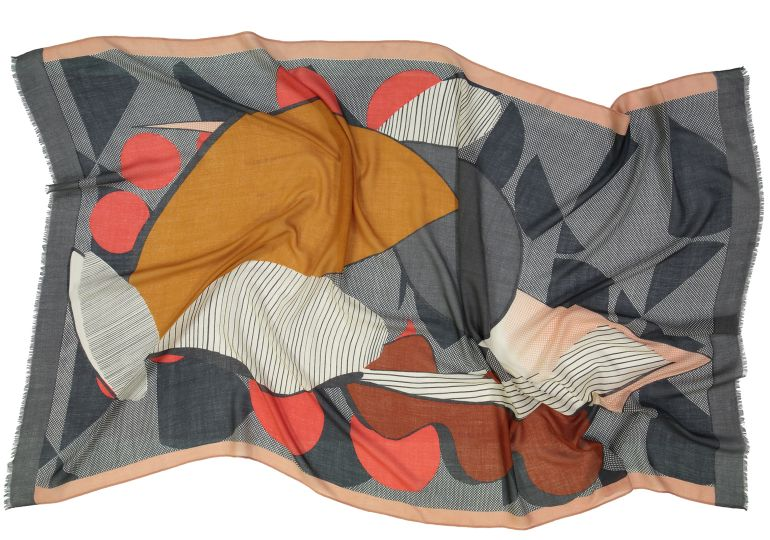 Foulard Nature morte roux
