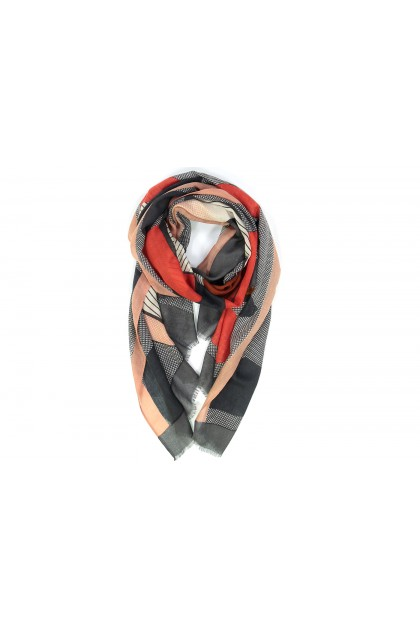 Foulard Nature morte roux