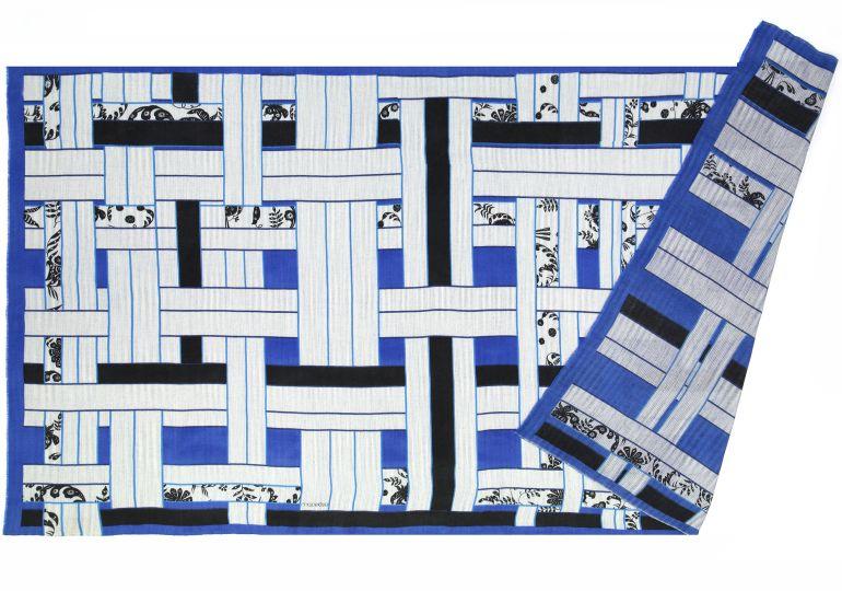 Foulard Estampe bleu