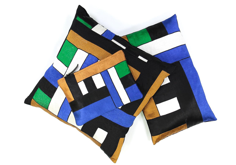 petite housse de coussin jasmin bleu ma po sie. Black Bedroom Furniture Sets. Home Design Ideas