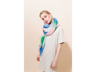 VIBRATION BLUE SCARF