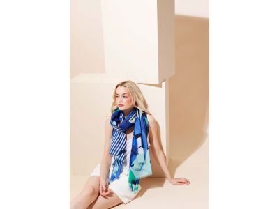 VOLUTE BLUE SCARF