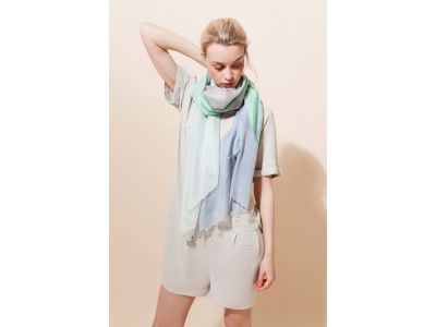 HORIZON BLUE GREY SCARF