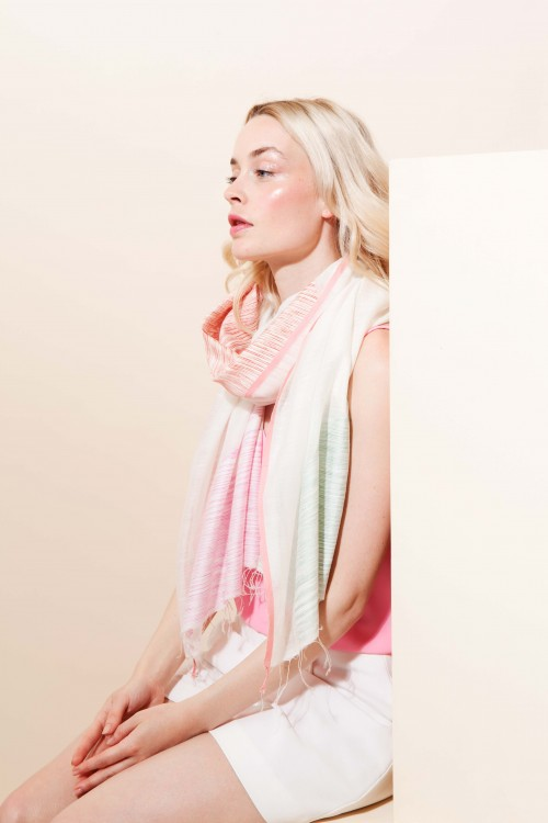FOULARD SUNSET MAPOESIE ROUGE