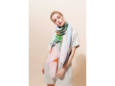 TROPICAL PASTEL SCARF