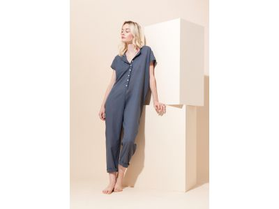 MESSINA PLAIN BLUE GREY JUMPSUIT