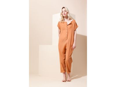 MESSINA PLAIN TAN JUMPSUIT
