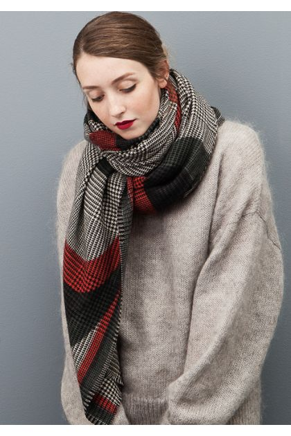 SCARF REFLET RED