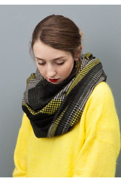 SCARF REFLET LIME