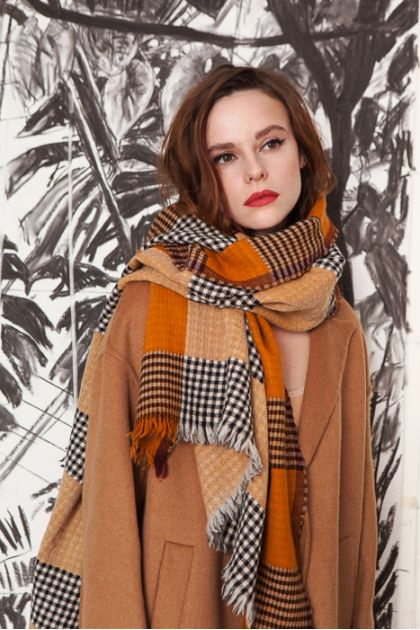 SCARF CANOPE ROUX