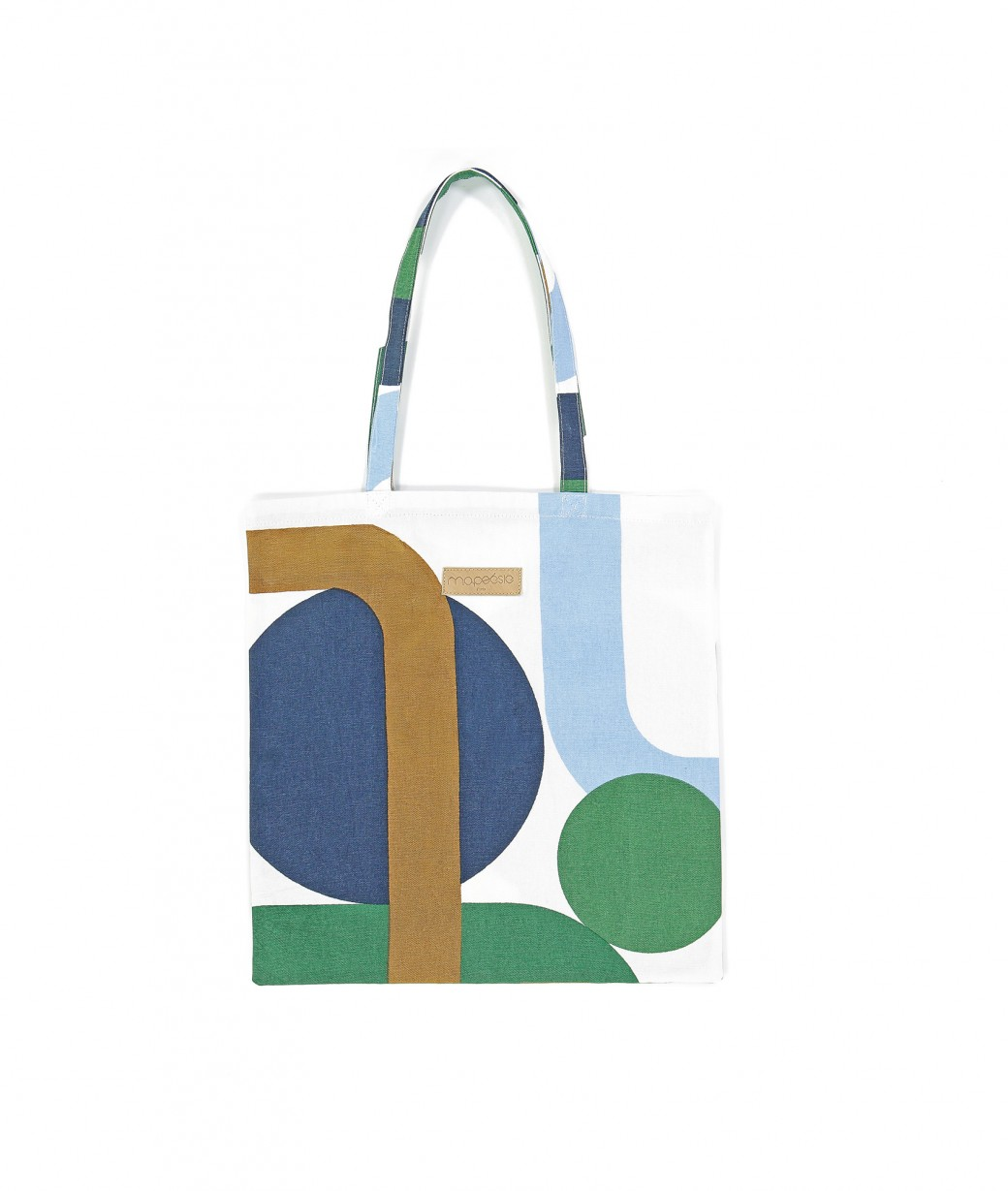 TOTE BAG TROPICAL MENTHE
