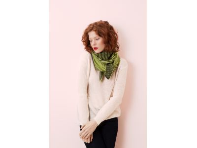 ALFRED LIME TRIANGLE SCARF