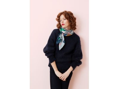 BIANCA PINK AND GREEN SCARF