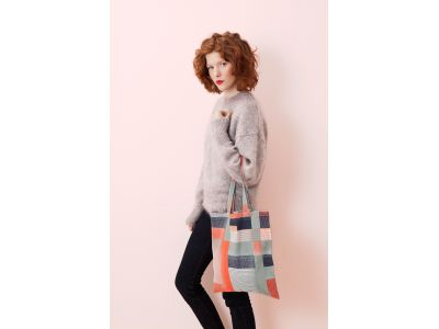 YVONNE ORANGE TOTE BAG