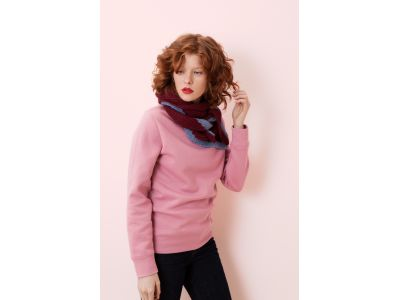 LALO BURGUNDY TRIANGLE SCARF