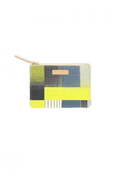 YVONNE LIME SMALL POUCH