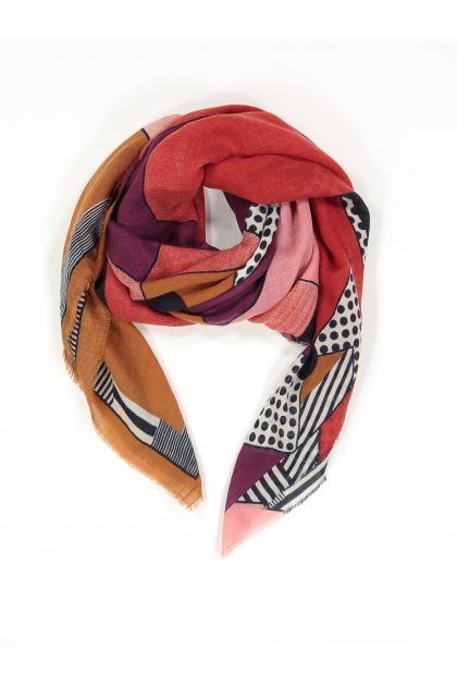 BABETTE GARNET-COLORED SCARF