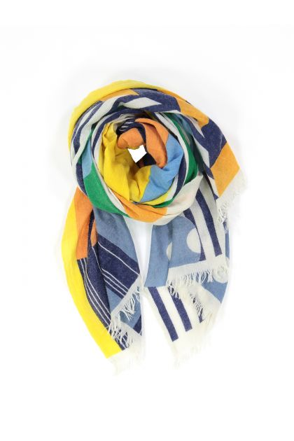 WALLI YELLOW AND GREEN SCARF