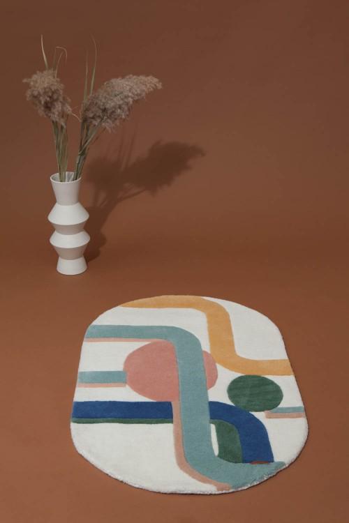 Petit Tapis Miami MAPOESIE pastel
