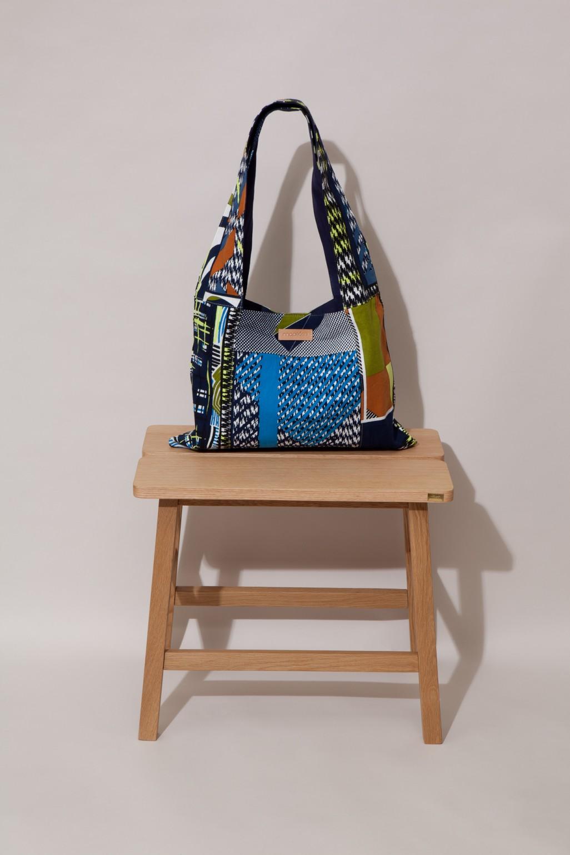 Patchwork Bag AMULETTE MAPOESIE Kaki