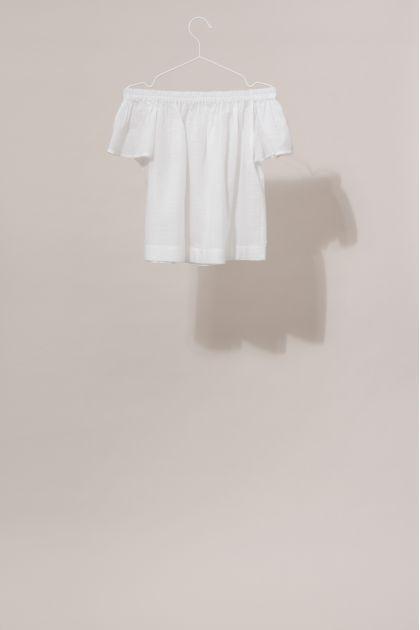 Top Off Shoulder BALI Uni White