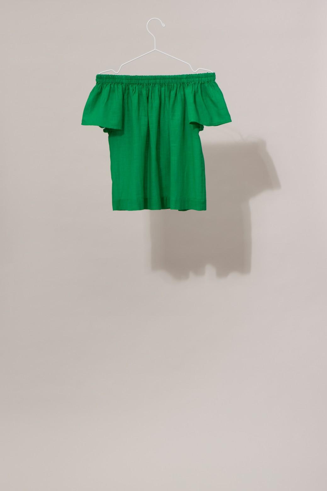 Top Off Shoulder BALI MAPOESIE Uni Vert