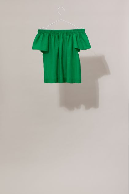 Top Off Shoulder BALI Uni Vert