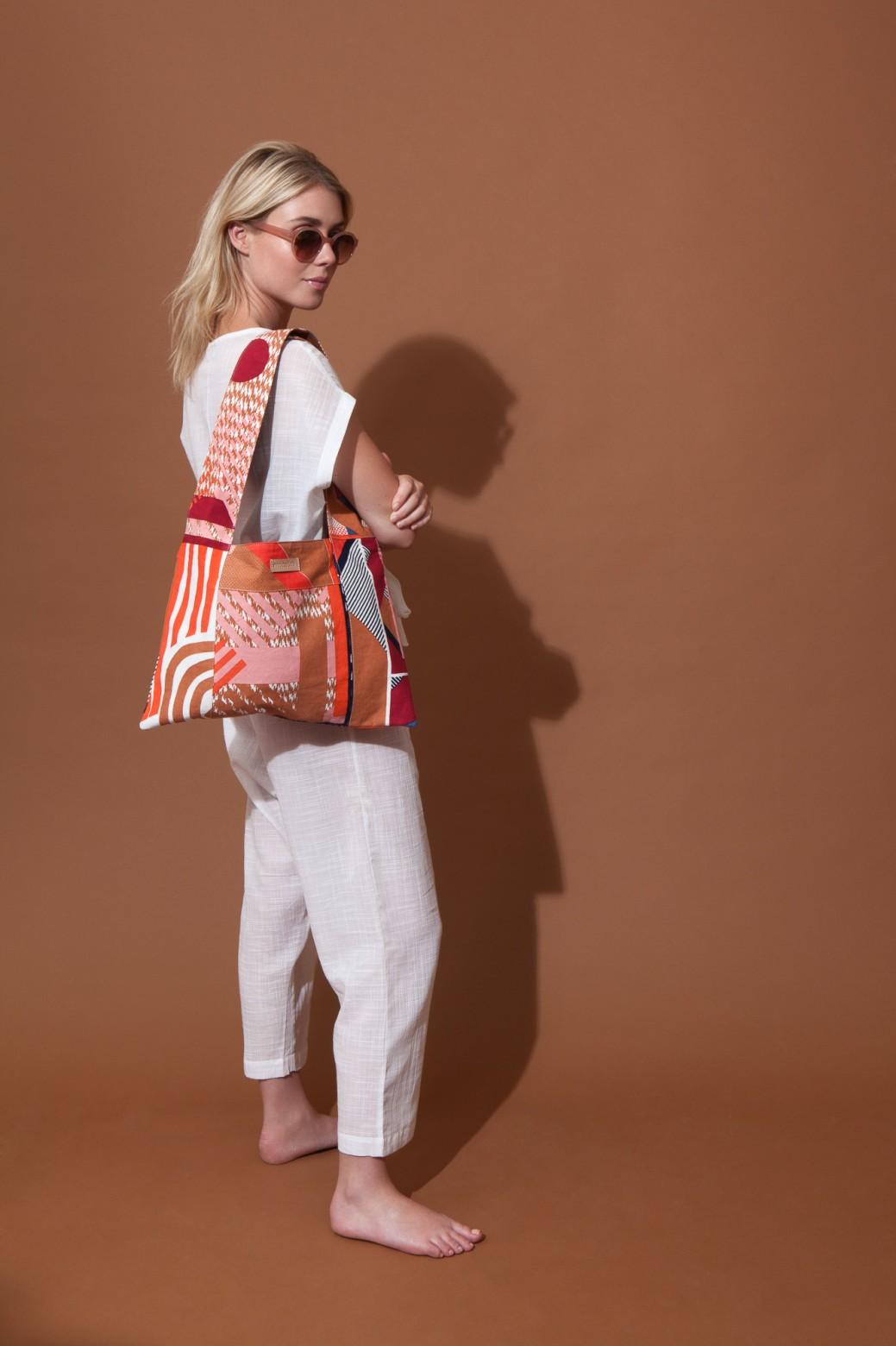 Patchwork Bag AMULETTE MAPOESIE Rouge