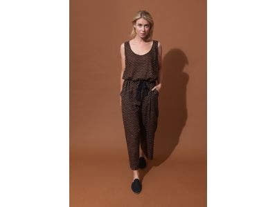 COMORE BLACK CARAMEL TROUSERS