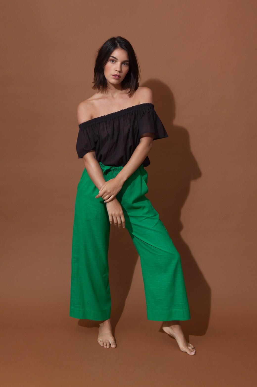 Pantalons COMORE Uni Vert