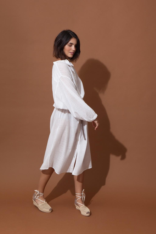 Robe EULALIE Uni White