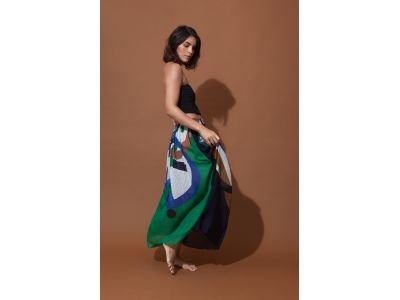ICONE BLUE GREEN SKIRT