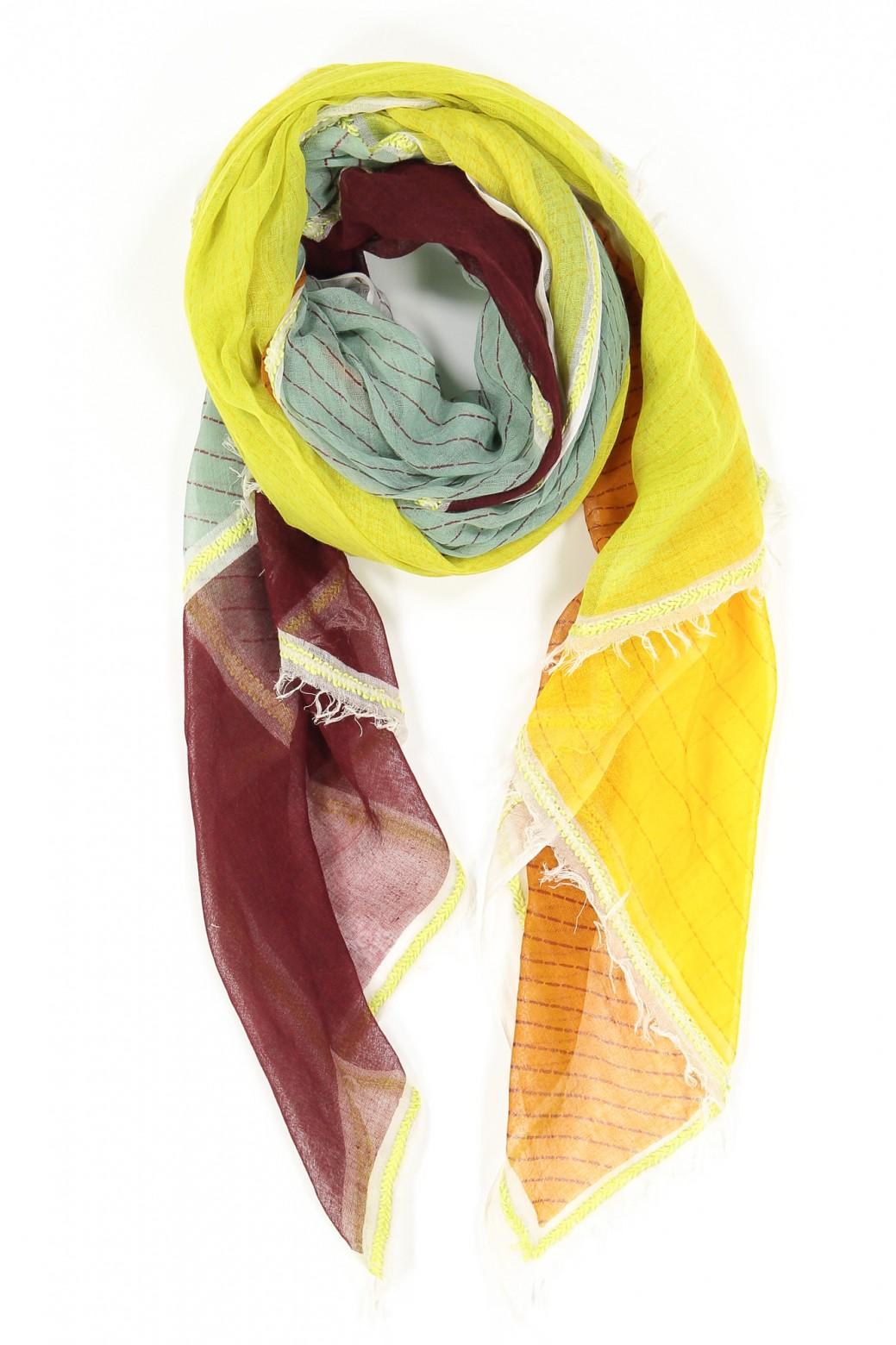 Foulard PATCHWORK Jade Sun