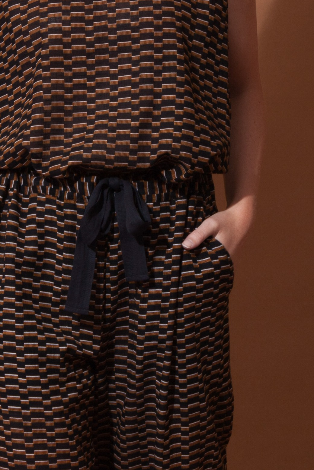 Pantalons COMORE All Over Noir Caramel