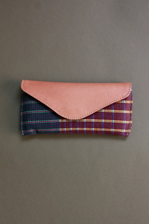 GRADIENT GREEN PINK GLASSES CASE