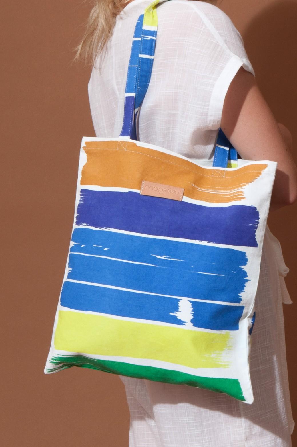 GOUACHE BLUE TOTE BAG