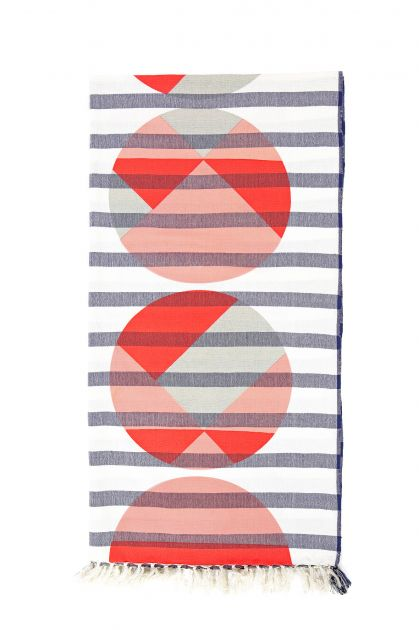 COCONUT RED BEACH TOWEL