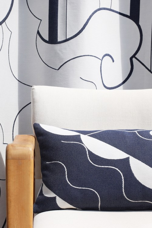 ARABESQUE NAVY CUSHION