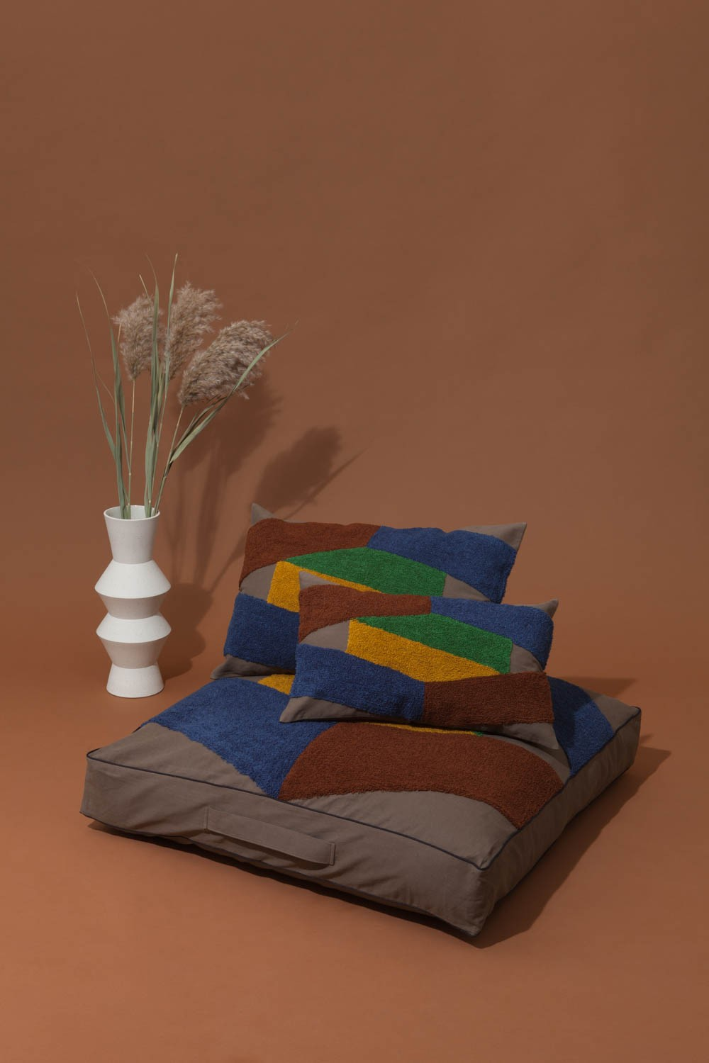 ODILE KHAKI LONG CUSHION COVER
