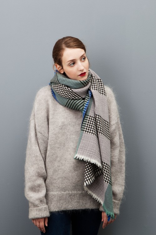 SCARF CANOPE GREY