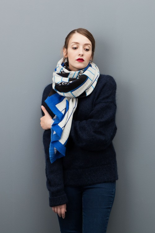 SCARF ESTAMPE BLUE