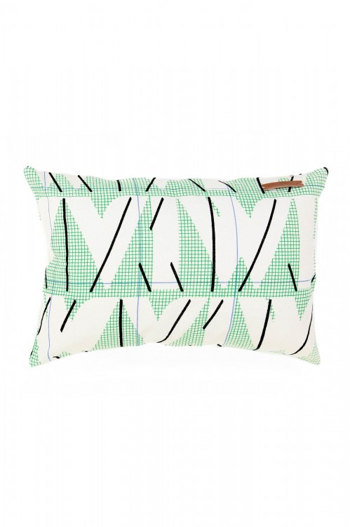MIAMI FLUO GREEN CUSHION COVER