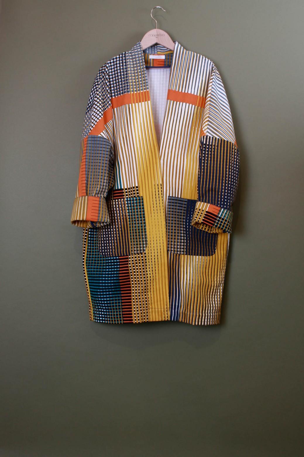 Aurore Sulphur Printed Coat