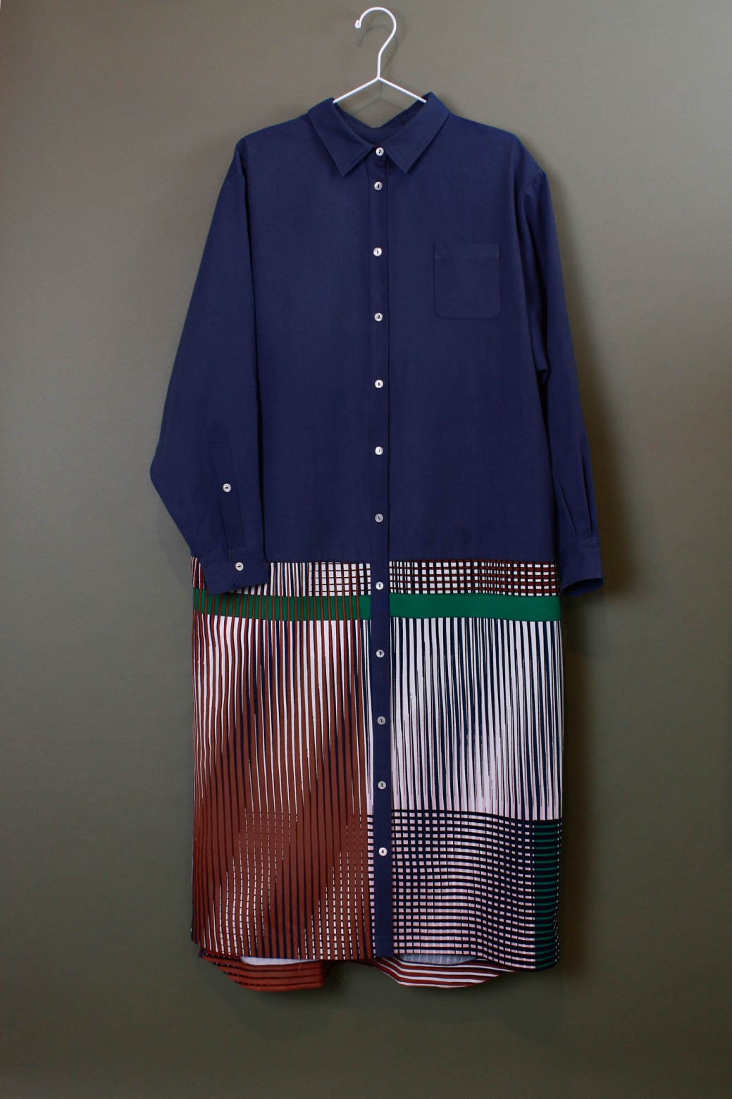 Cesar Marine Shirt Dress