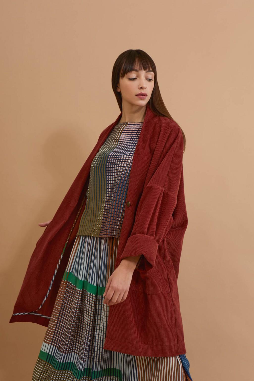 Aurore Mahogany Coat