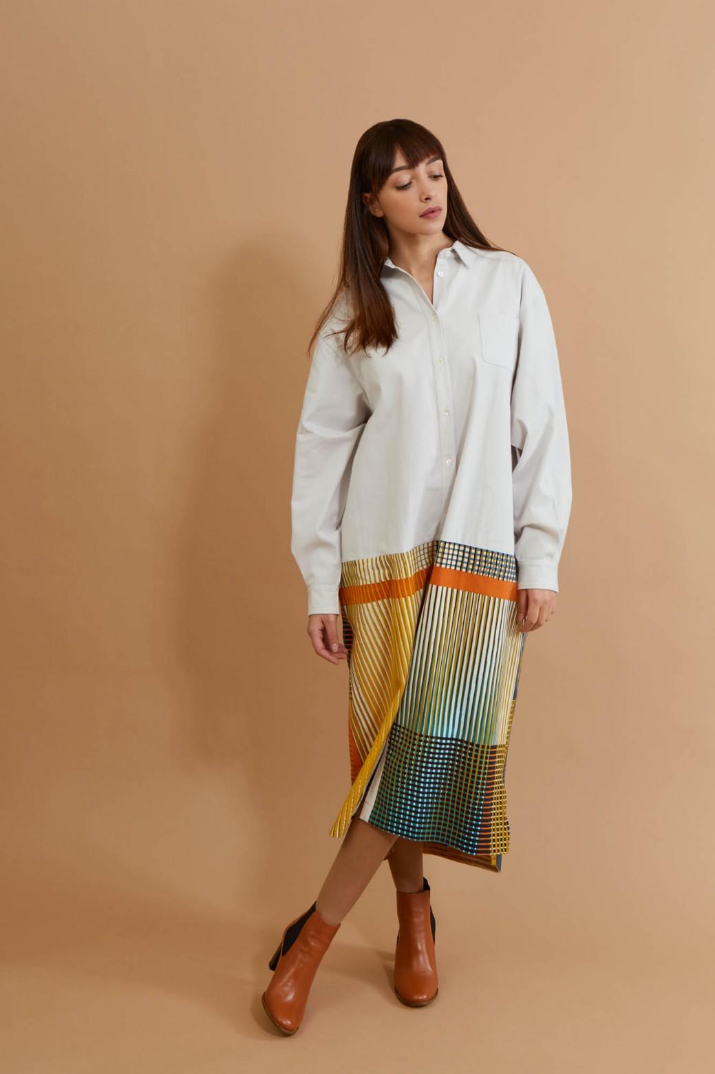 Cesar Sulphur Shirt Dress