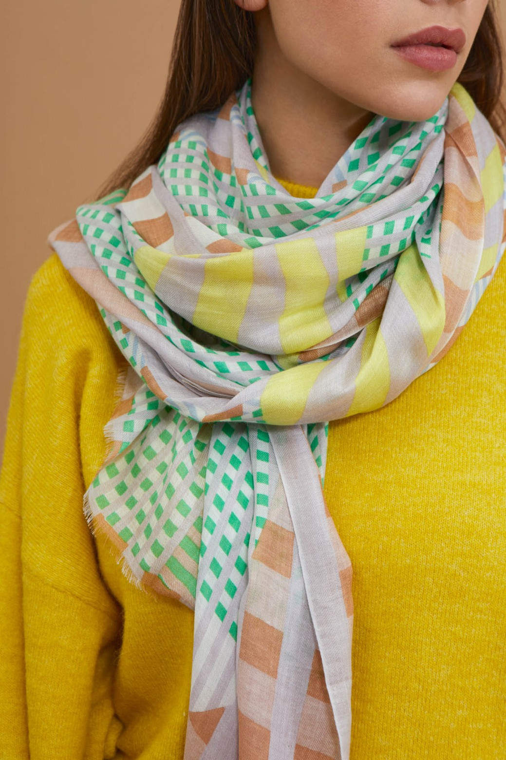 Domino Pastel Scarf