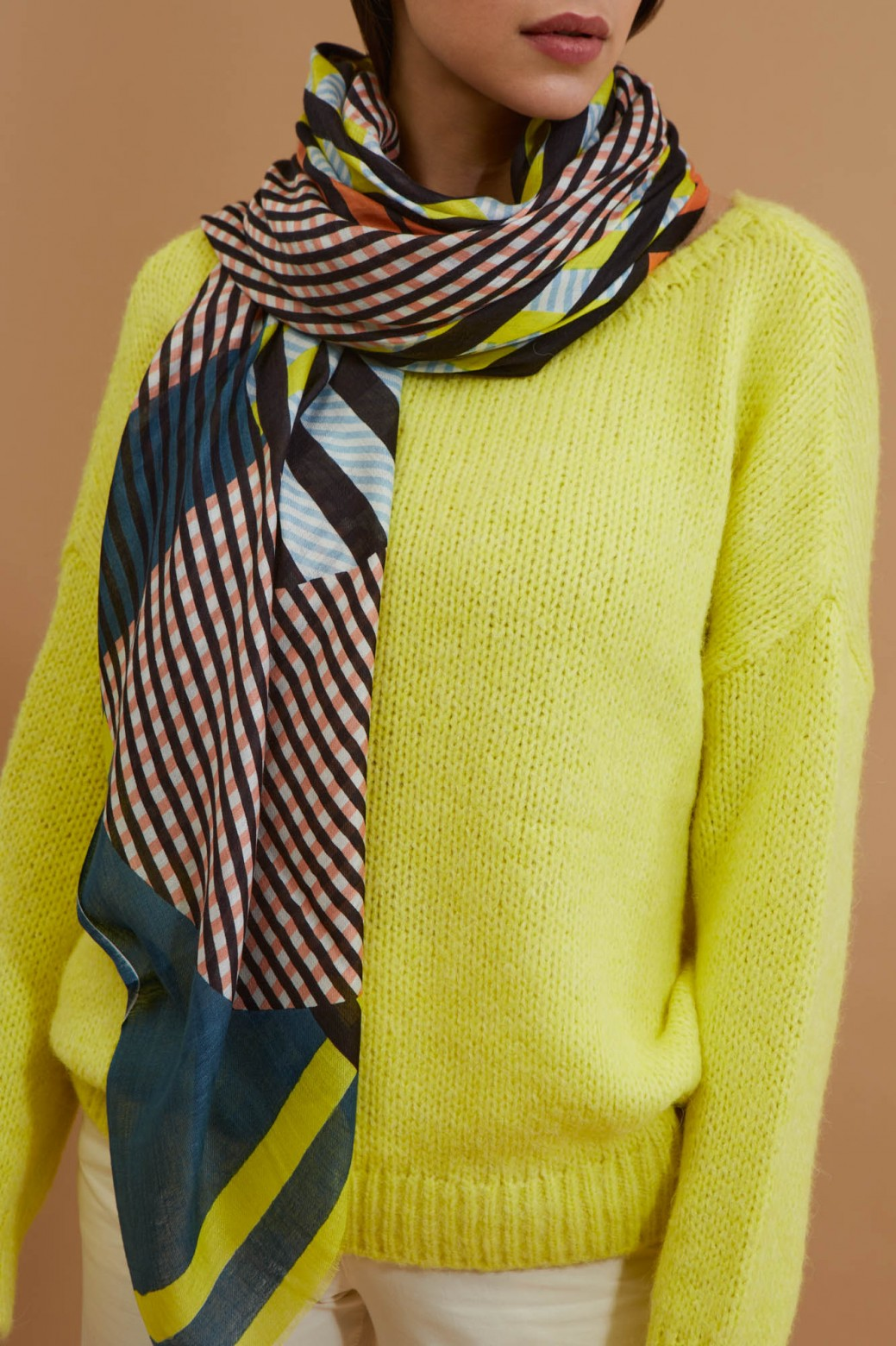 Domino Lime Scarf