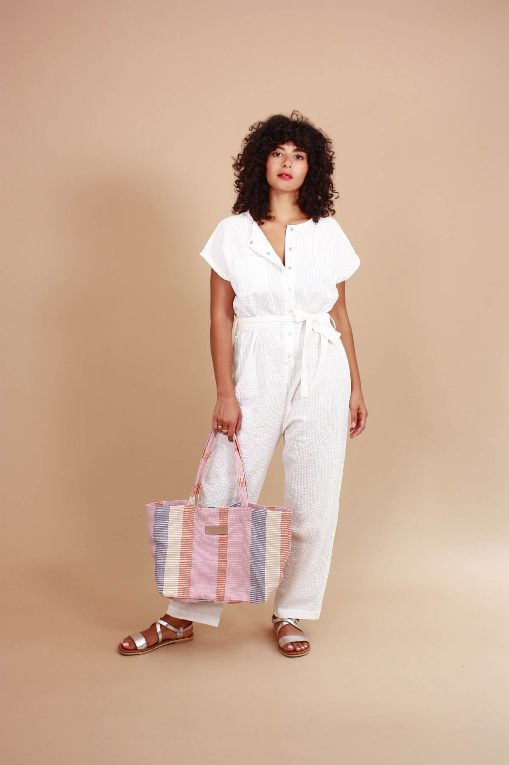 Messina White Jumpsuit