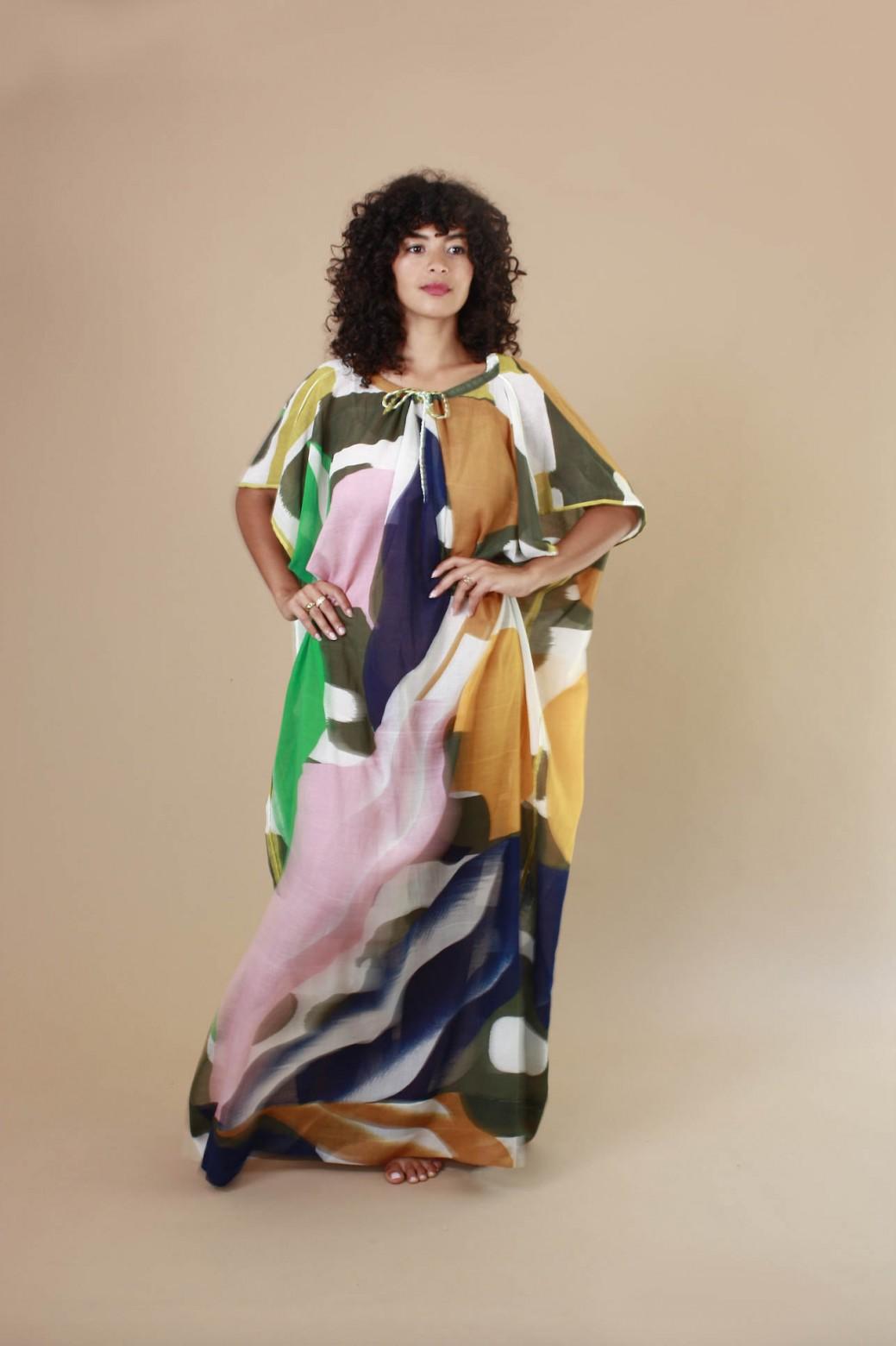 Florilege Khaki Dress